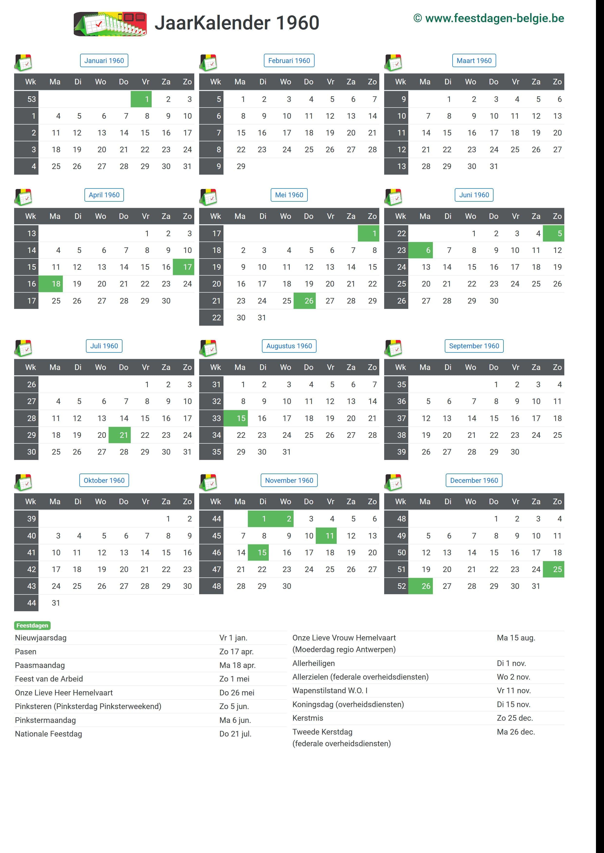 Kalender op a4