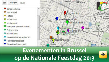 Evenementen in Brussel op Nationale Feestdag Juli 2013 via www.feestdagen-belgie.be
