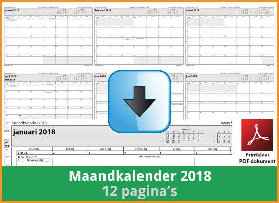 kalenders 2018 gratis downloaden en printen? | feestdagen belgie
