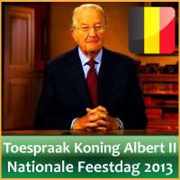 Video Toespraak Koning Albert II 2013 Nationale Feestdag Belgie 21 Juli via www.feestdagen-belgie.be