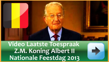 Video Laatste Toespraak Koning Albert II Nationale Feestdag 2013. via www.feestdagen-belgie.be