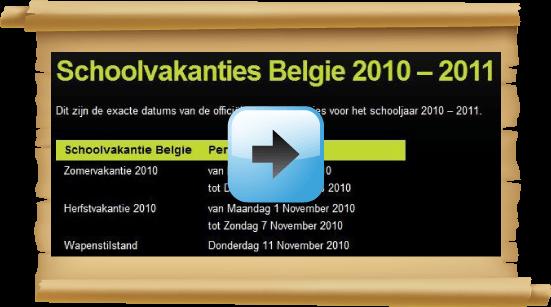 Schoolvakanties 2010 Belgie datum kalender Google agenda