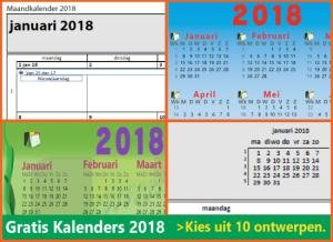 kalenders 2018 gratis downloaden met Belgische feestdagen en schoolvakanties via www.feestdagen-belgie.be
