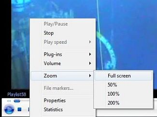 Tip: Zoom full screen windows media player widget