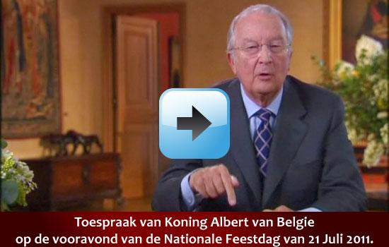 Toespraak Koning Albert 21 juli 2011 Nationale Feestdag via www.feestdagen-belgie via www.feestdagen-belgie
