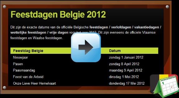 Feestdagen Belgie 2012 via www.feestdagen-belgie