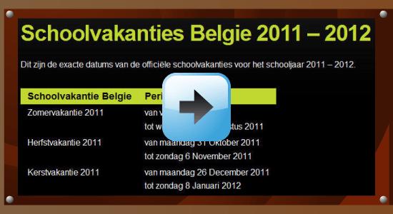 Schoolvakantie schooljaar 2011-2012 Belgie datum kalender Google agenda